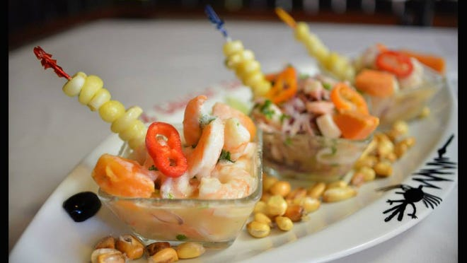 A trio of ceviches from El Gaucho Inca in Fort Myers.