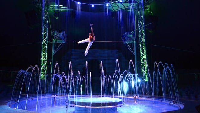 An aerialist entertain at Cirque Italia coming to JetBlue Park on Thursday to Sunday.