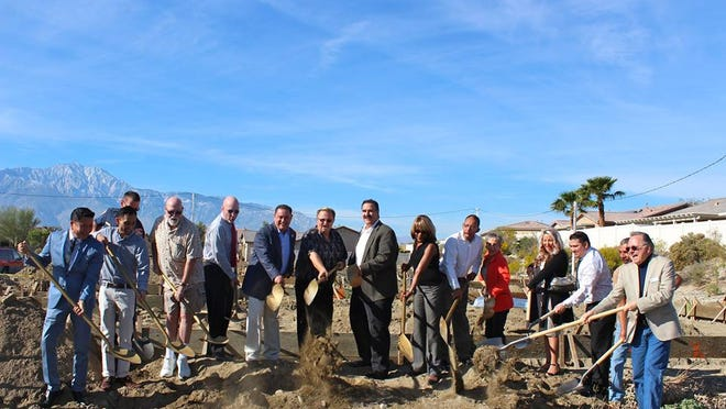 Desert Hot Springs city leaders held a groundbreaking ceremony Thursday for Watermarke at Mountain View.