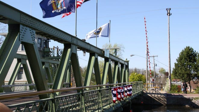 The lift bridge over the Erie Canal in the Village of Brockport. photo by Caurie Putnam