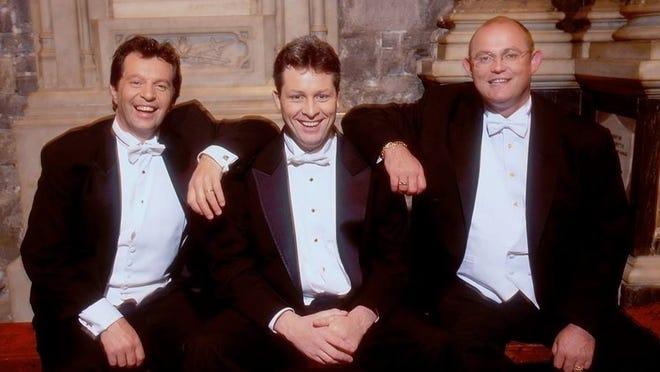 The Irish Tenors are Finbar Wright (left), Anthony Kearns and Ronan Tynan.