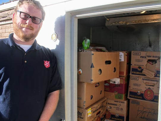 Alamogordo Salvation Army Pastor Bryan Makowski stands