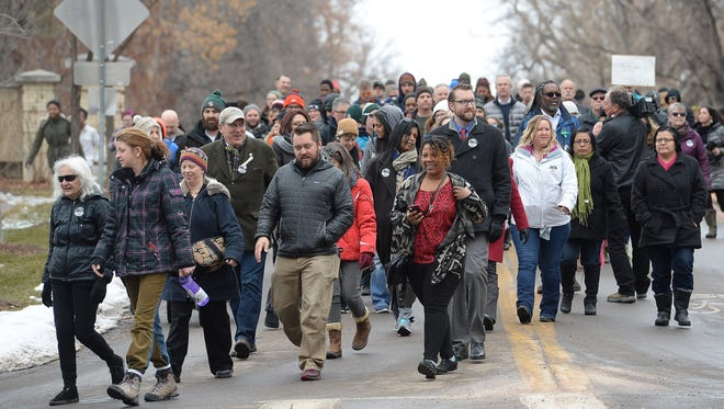 """Hundreds participated in the Martin Luther King, Jr. March and Celebration on Monday, January 16, 2016. This year's theme was """"Justice Now."""""""