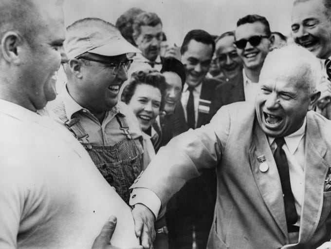 """Now there's a real American!"" Nikita Khrushchev says"
