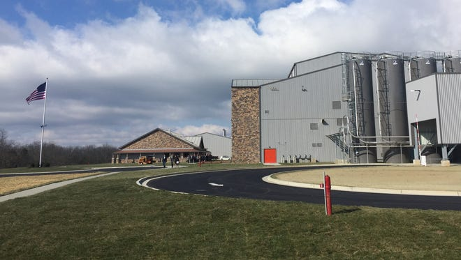 Outside the Bulleit Bourbon distillery in Shelby County.