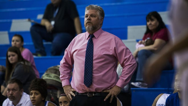 Tyler Dumas is the big schools girls basketball coach of the year.