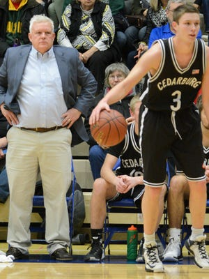 Cedarburg coach Tom Diener and his son, John (3), will be spending their last season together on the court.