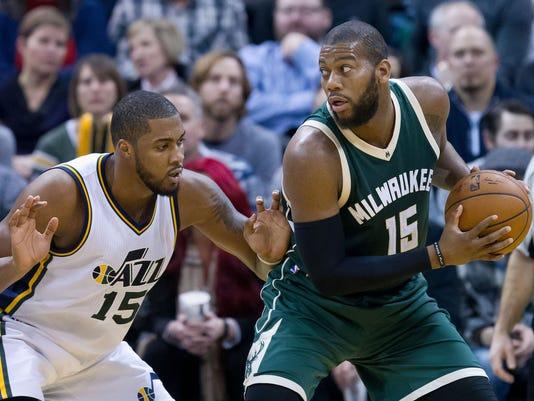 USP NBA: MILWAUKEE BUCKS AT UTAH JAZZ S BKN USA UT