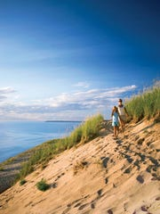 Lake Michigan Overlook @ Pierce Stocking Scenic Drive at Sleeping Bear Dunes.  From the ad campaign, Pure Michigan.