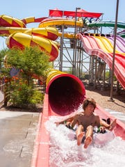 "An award-winning slide by the Travel Channel, the Constrictor is advertised as having ""the tightest turns of any other water slide."""