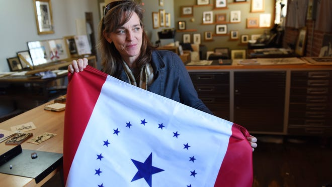 Jackson artist Laurin Stennis, granddaughter of the late U.S. Sen. John C. Stennis, designed a proposed state flag that has been introduced in the Legislature through House Bill 1548 by state Rep. Kathy Sykes, D-Jackson.