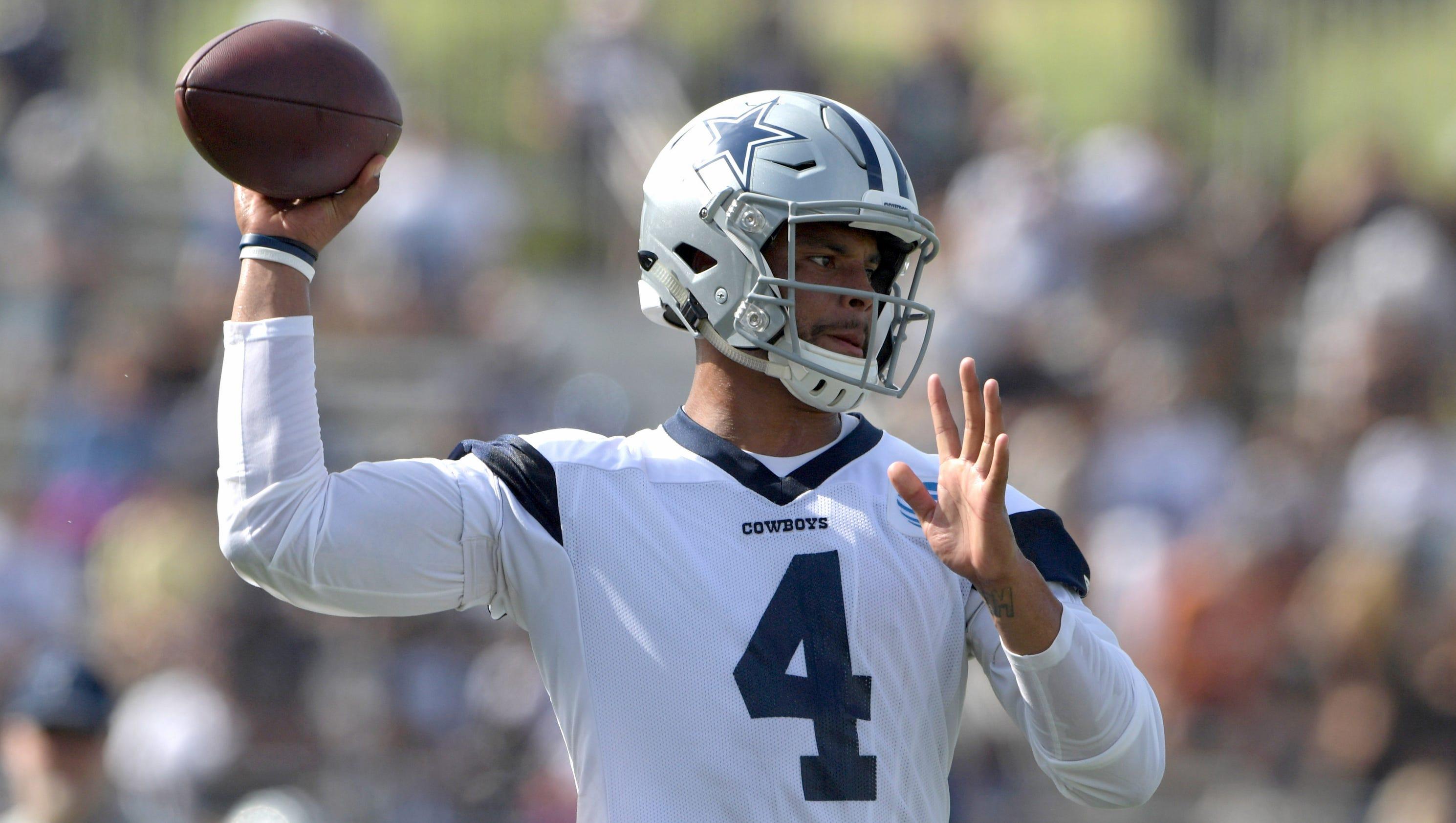 Cowboys Dak Prescott feels no pressure, ready to take chances