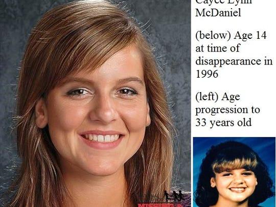 Cayce Lynn McDaniel, missing since 1996