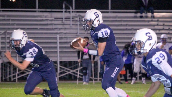 Silver quarterback Joe Hanson will have his hands full Friday night when he takes on Hatch Valley's defense.