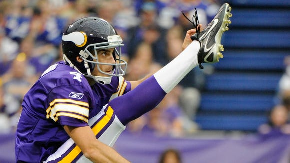 Football player Chris Kluwe when he was punting for the Minnesota Vikings. He retired from the sport in January.