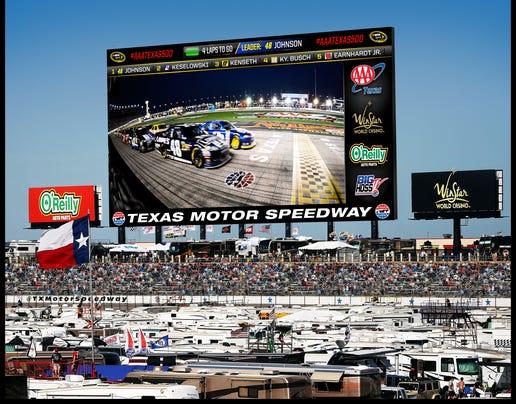 9-23-2013 texas motor speedway video board