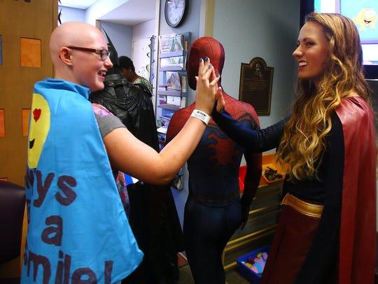 Third annual Superhero Day as Supergirl, Jenn Bubek