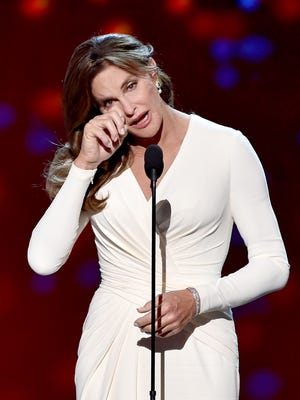 Caitlyn Jenner accepts the Arthur Ashe Courage Award onstage during The 2015 ESPYS at Microsoft Theater on July 15, 2015 in Los Angeles, California.