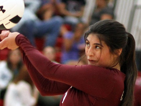 Junior Jolene Perez led the Lady Cats in kills with