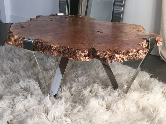Live-edge tables like this one make a statement.