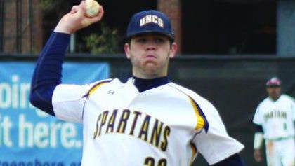 Enka alum Matt Frisbee is a sophomore pitcher for UNC Greensboro.