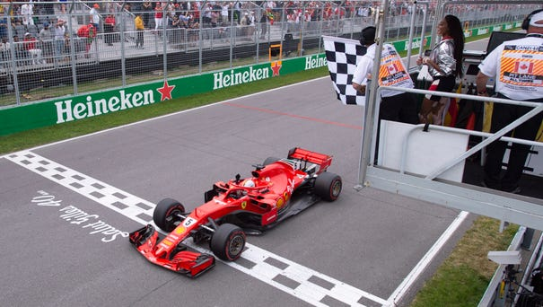 Ferrari's Sebastian Vettel of Germany officially...