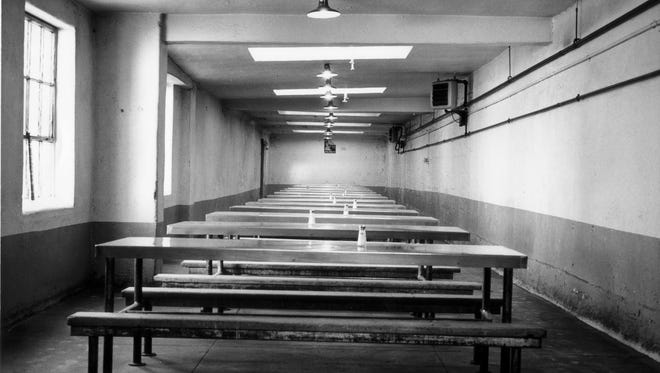 The Mess  Hall at Eastern State Prison historical site in Philadelphia.