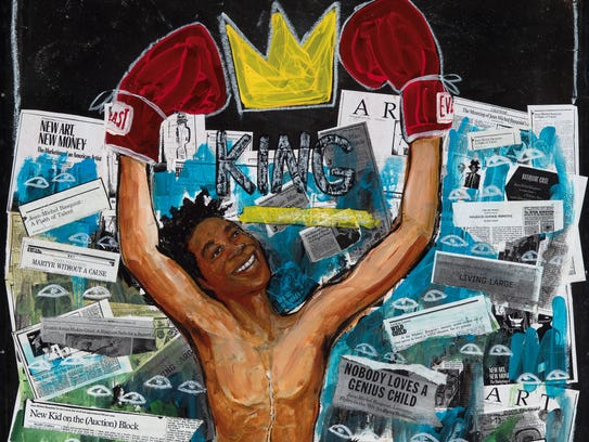 """""""Radiant Child,"""" by Javaka Steptoe, an exhibiting artist"""