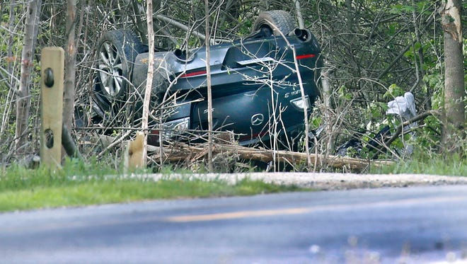 Two people died in a car crash on Harris Road near Atlantic Avenue in Penfield.