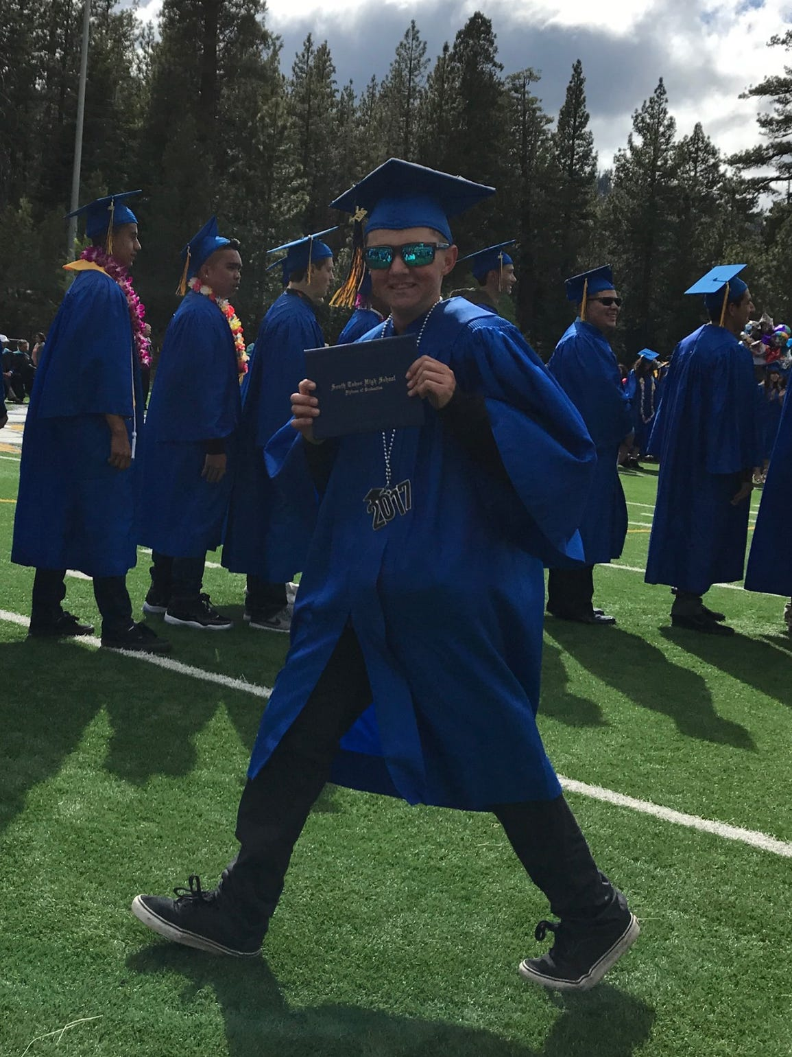 Despite several health obstacles, Bailey Johnson graduated