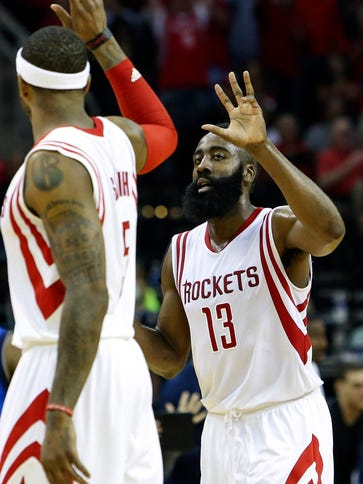 James Harden scored a team-high 24 points for the Rockets,