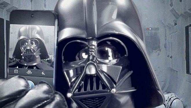 """A Darth Vader selfie launched the official """"Star Wars"""" Instagram account on Monday."""