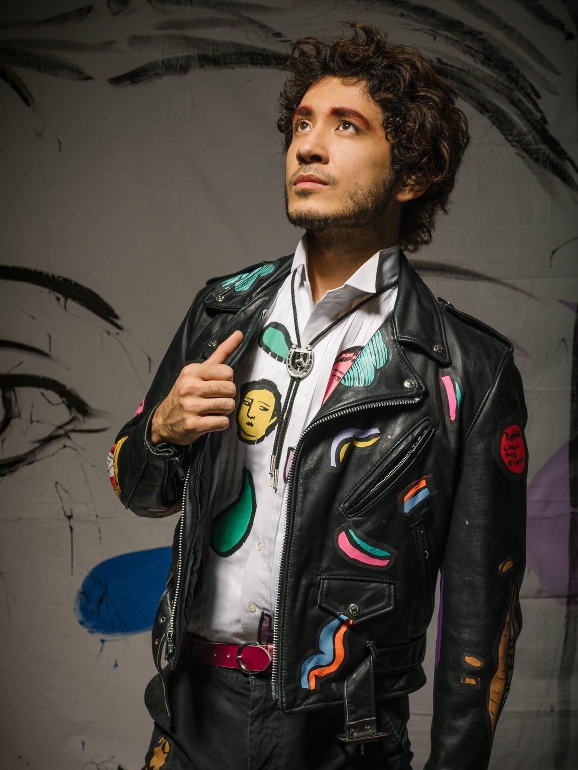 Zeus Lee in a custom Sofia Enriquez jacket, shirt and