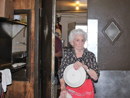 Margaret Blanek, owner of the Dun Bar Restaurant, will turn 90 on March 10.