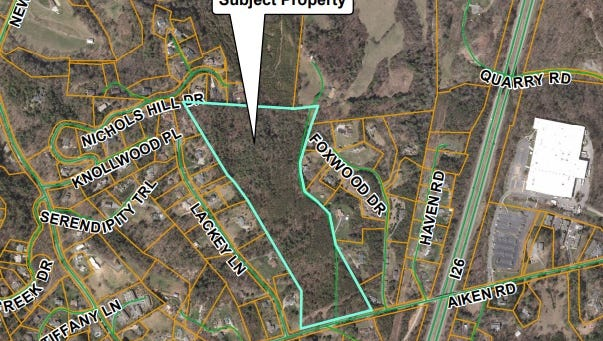 A 296-unit apartment complex has been proposed property located to the east of 551 Aiken Drive at the intersection of Country Oak Drive in Buncombe County.