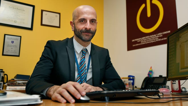 New York City Deputy Health Commissioner Demetre Daskalakis poses for a picture in his office in New York, on Wednesday, Dec. 20, 2017. In New York, roughly 30 percent of gay and bisexual men are using Truvada now, up dramatically from a few years ago, according to Daskalakis. However, he said usage among young black and Hispanic men - who together account for a majority of new HIV diagnoses - lags behind.