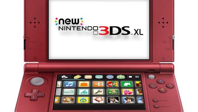 """The """"New Red"""" version of Nintendo's New 3DS XL, arriving Feb. 13, 2015, for $200."""