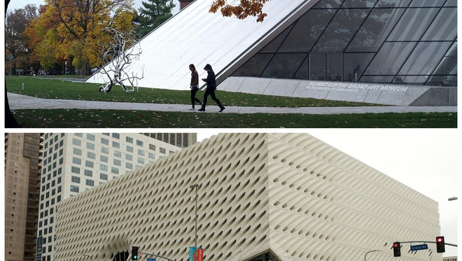 MSU's Eli & Edythe Broad Art Museum opened in November 2012. Two years and two months later, the scaffolding is off of The Broad, which will house Eli and Edythe Broad's impressive collection of contemporary art.