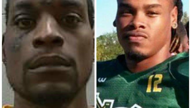 Reginald Davis, left, is charged in the death of Belhaven wide receiver Trey Rich.