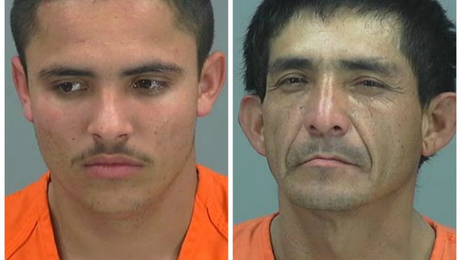 Juan Aguilar-Zavala and Mario Perez-Paz were arrested following a high-speed chase.