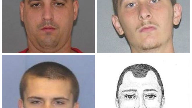 Suspects connected to two Delhi Township home invasions.