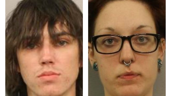 Brandon Griswold, left, and Whitney Gray, right, are charged with criminal homicide in connection to the deaths of Preston Claybrooks and Alexandra Grubbs.