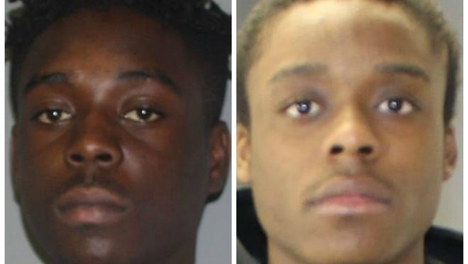 Antonio Thompson and Jamell Barber were charged in connection to the break-in Thursday in Lansing.