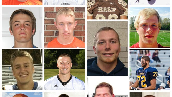 The offensive players on the LSJ football Dream Team.