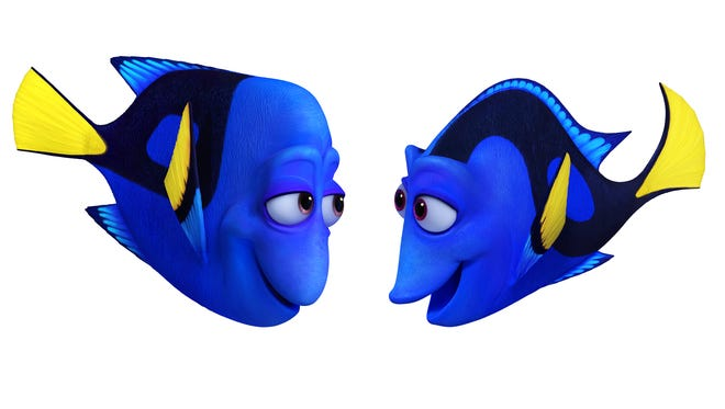 Charlie (left, voiced by Eugene Levy) and Jenny (Diane Keaton) are the parents in Pixar's 'Finding Dory.'