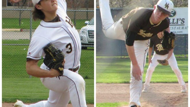 Junior lefty Jesse Heikkinen and sophomore righty Burrell Jones have given the Holt baseball team a strong one-two pitching combo.