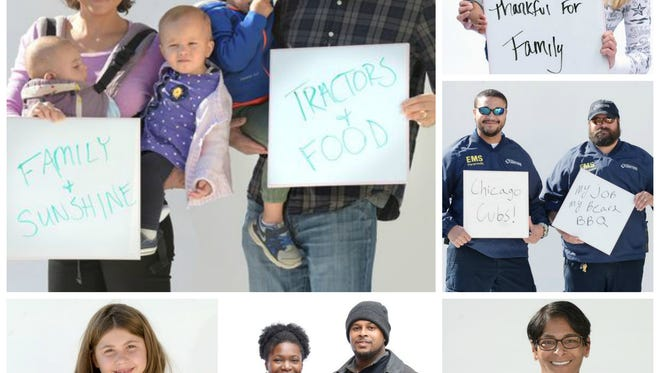 Williamson County residents share what they're thankful for.