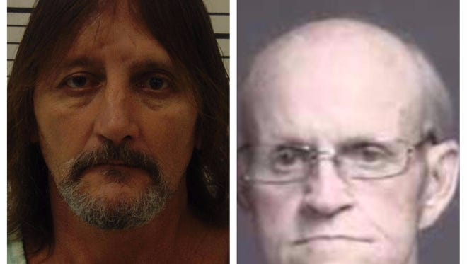William Tucker, left, and Lester Parker, right, are both charged with arson in the 2015 death of Hamilton firefighter Patrick Wolterman.