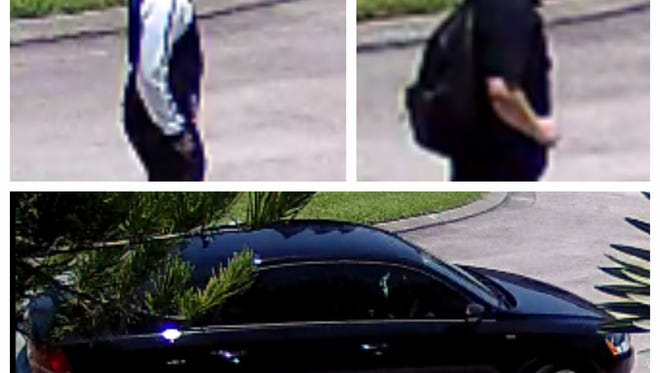 Suspects and car in daytime burglary at south Fort Myers address.