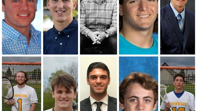 Meet 10 of the 18 Lansing State Journal boys lacrosse Dream Team members for the 2017 season. (Top row, from left to right: Logan Fenech, Evan Jamieson, Mario Gonzalez, Nate LaLumia, Ryan Madar; bottom row, from left to right: Spencer Fox, Beau Yabs, Joe Frangie, Jackson Alspaugh, Anthony Stone)